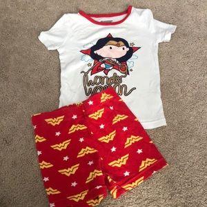 5/$15- Wonder Woman pajamas size 3t